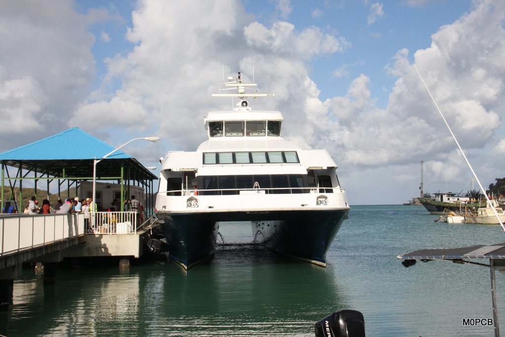 The ferry to Montserrat takes around 90 minutes.