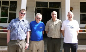 Left to right: Iain M0PCB, Alan G3XAQ, Don G3XTT and Steve G3VMW.