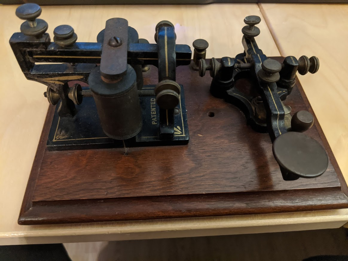 Partrick and Carter Telegraph Key and Sounder