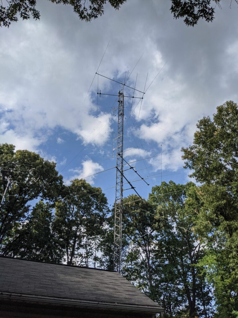 One of the two 90 foot towers at WA3EKL
