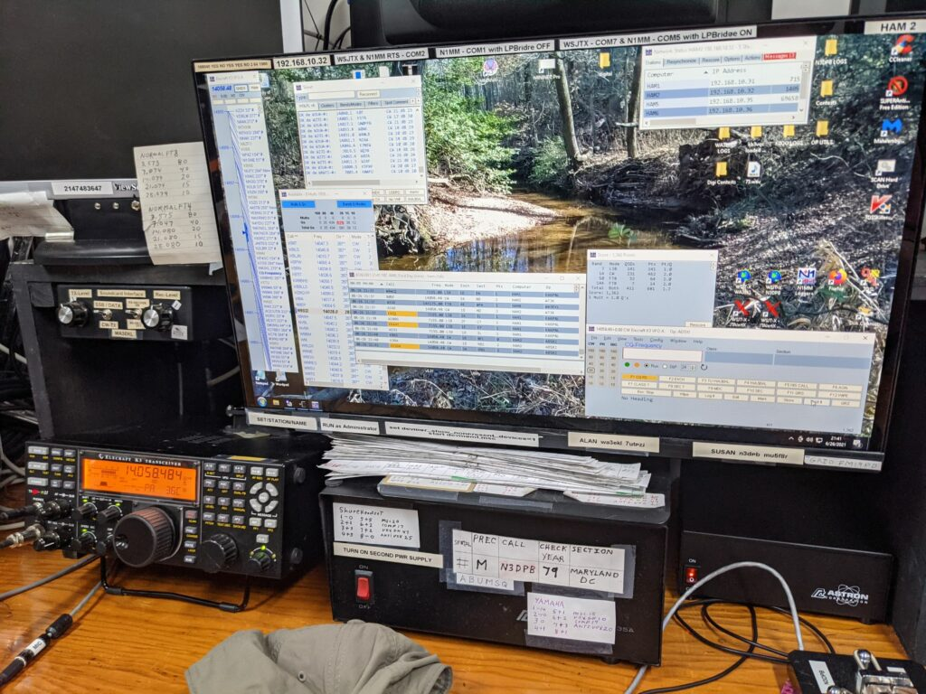One of the HF operating positions at WA3EKL
